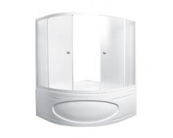 Душевая шторка на ванну 1-MarKа 140140 140х140 (белая, хром)
