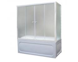 Душевая шторка на ванну 1-MarKа 150140 150х140 (белая, хром)