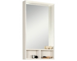 Зеркало-шкаф Акватон Йорк 50 50 см. 1A170002YOAY0 (белое-выбеленное дерево)
