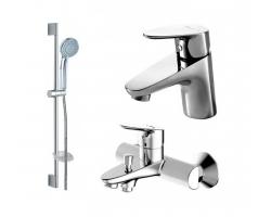 Комплект смесителей для ванной комнаты Bravat Drop F00308