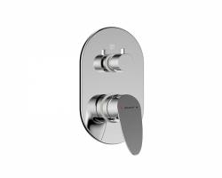 Смеситель встраиваемый для ванны Bravat Drop P69190C-2-ENG (внешняя часть) (2-режима)