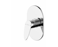 Смеситель встраиваемый для ванны Bravat Drop PB84898CP-ENG (внешняя часть) (1-режим)