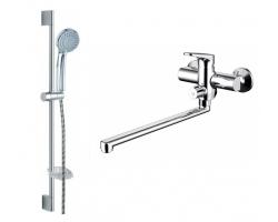 Комплект смесителей для ванной комнаты Bravat Eler F00449CP