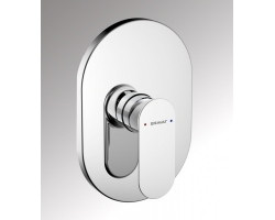 Смеситель встраиваемый для ванны Bravat Gina PB865104CP-ENG (внешняя часть) (1-режим)