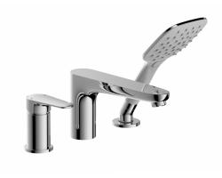 Смеситель для ванны на 3 отверстия Bravat Iguassu F5173218CP-1-RUS
