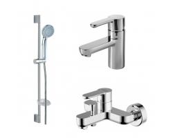 Комплект смесителей для ванной комнаты Bravat Stream F00310C