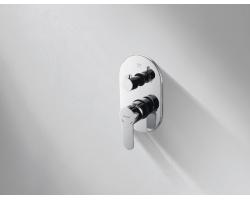 Смеситель встраиваемый для ванны Bravat Stream P69191C-ENG (внешняя часть) (3-режима)