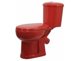 Унитаз напольный Оскольская керамика Дора 47360110212 (антивсплеск, красный)