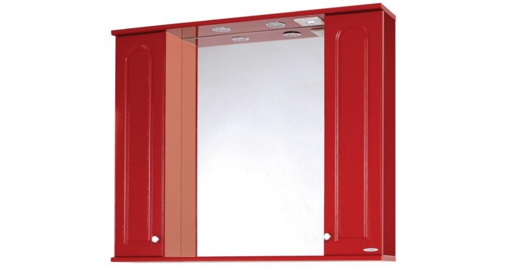 Шкаф-зеркало sanmaria венге 100 (красный) характеристики, це.