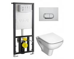 Комплект инсталляция Vitra 742-5800-01 и унитаз Vitra S20 9004B003-7204 (сиденье микролифт, клавиша хром)