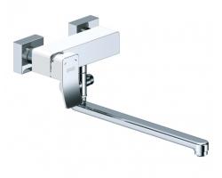Смеситель для ванны с длинным изливом Wasser Kraft Aller White 1062L (белый, хром глянец)