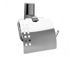 Держатель туалетной бумаги с крышкой WasserKraft Leine К-5025 (хром глянец)