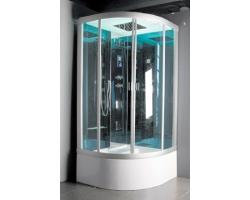 Душевая кабина Nautico-9817 100х100 (матовое стекло, высокий поддон с гидромассажем)