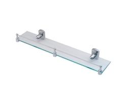 Полка стеклянная с бортиком WasserKraft Oder K-3044 (хром глянец)