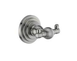 Крючок двойной WasserKraft Ammer К-7023D (матовый хром)