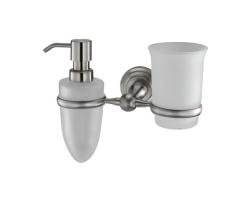 Держатель стакана и дозатора WasserKraft Ammer К-7089 (матовый хром)