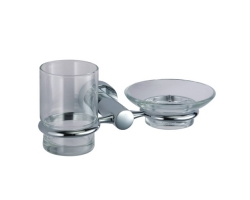 Держатель стакана и мыльницы WasserKraft Donau K-9426 (хром глянец)