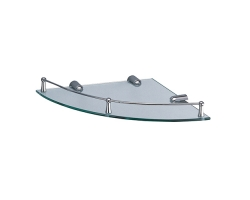 Полка стеклянная угловая WasserKraft K-544 (хром глянец)