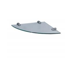 Полка стеклянная угловая WasserKraft K-533 (хром глянец)