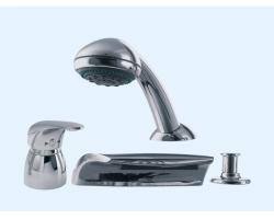 Смеситель для ванны на 4 отверстия Еса 402101024 (хром глянец, врезной на борт ванны)