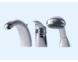 Смеситель для ванны на 3 отверстия Еса 402101029 (хром глянец, врезной на борт ванны)