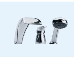 Смеситель для ванны на 3 отверстия Еса 402101031 (хром глянец, врезной на борт ванны)