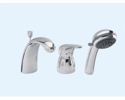 Смеситель для ванны на 3 отверстия Еса 402101033 (хром глянец, врезной на борт ванны)