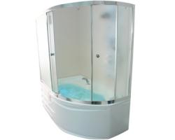 Душевая шторка на ванну 1-MarKа 170105 170х105 (белая, хром)