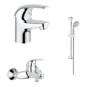 Комплект смесителей для ванной комнаты Grohe Euroeco 124428