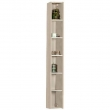 Шкаф-колонна Акватон Йорк 17 см. 1A171103YOB90 (ясень фабрик, подвесная, открытая)
