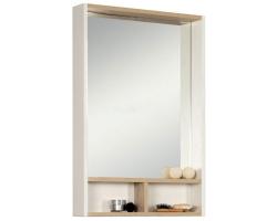 Зеркало-шкаф Акватон Йорк 55 55 см. 1A173202YOAV0 (белое-ясень фабрик)