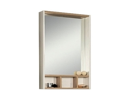 Зеркало-шкаф Акватон Йорк 60 60 см. 1A170102YOAD0 (белое-дуб сонома)