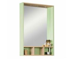 Зеркало-шкаф Акватон Йорк 60 60 см. 1A170102YOAJ0 (дуб сонома-салатовый)