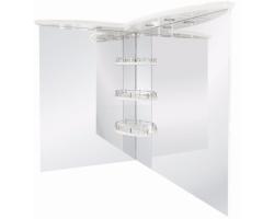 Зеркало Акватон Лас-Вегас 100 100 см. 1A0513K0LA01L (белое, левое)
