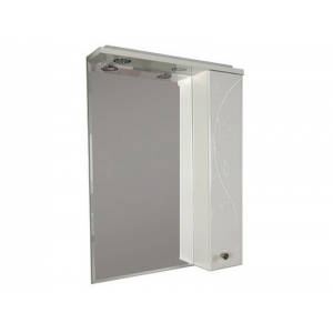 Зеркало-шкаф Акватон Лиана 60 60 см. 1A162702LL01R (белое, правое)
