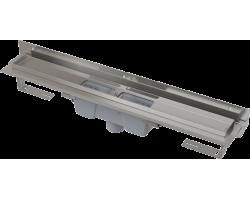 Душевой лоток AlcaPlast APZ1004-750 Flexible 75 см. (вертикальный, угловой, с гидрозатвором и опорами, без решетки)