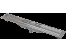 Душевой лоток AlcaPlast APZ1101-550 Low 55 см. (вертикальный, плоский, с гидрозатвором и опорами, без решетки)