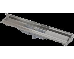 Душевой лоток AlcaPlast APZ1104-750 Flexible Low 75 см. (вертикальный, угловой, плоский, с гидрозатвором и опорами, без решетки)