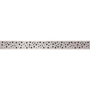 Дизайн решетка AlcaPlast Buble-650L 65 см. (нержавеющая сталь, глянцевая)
