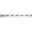 Дизайн решетка AlcaPlast Dream-850L 85 см. (нержавеющая сталь, глянцевая)