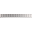 Дизайн решетка AlcaPlast Line-1150L 115 см. (нержавеющая сталь, глянец)