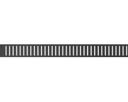 Дизайн решетка AlcaPlast Pure-300Black (нержавеющая сталь, чёрная)