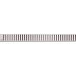 Дизайн решетка AlcaPlast Pure-1150L 115 см. (нержавеющая сталь, глянец)