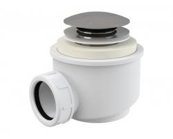 Сифон для душевого поддона AlcaPlast A465-50 Ø50 мм (автомат (click-clak), внешние части металл, хром глянец)