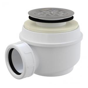 Сифон для душевого поддона AlcaPlast A46-60 Ø60 мм (внешние части металл, хром глянец)
