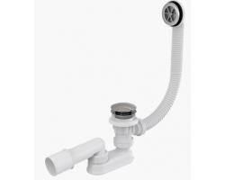 Слив-перелив для ванной AlcaPlast A505KM (автомат (click-clak), внешние части металл, хром глянец)