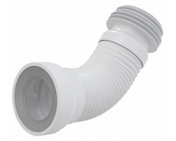 Раздвижной слив для унитаза AlcaPlast A97 (белый)
