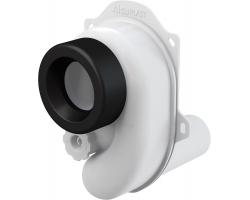 Сифон для писсуара AlcaPlast A45B (горизонтальный, белый, скрытого монтажа)