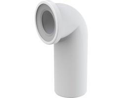 Фановый отвод для унитаза AlcaPlast A90-90 90° (белый)