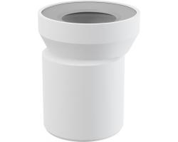 Фановый отвод для унитаза AlcaPlast A92 (белый, эксцентричный)